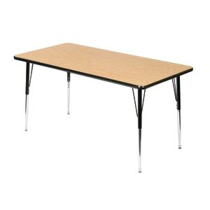 "Wood Top 18-25""H, 24"" x 48"" Rectangle Scholar Craft™ Activity Table"