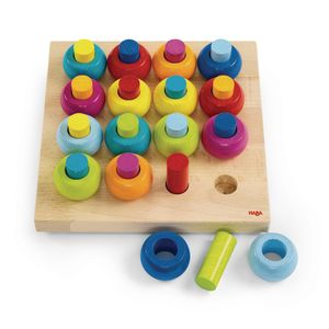 Rainbow Whirls Wooden Pegging Puzzle