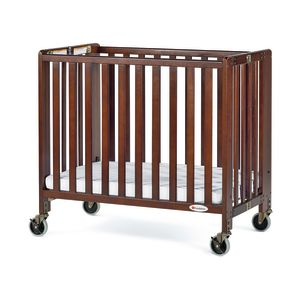 Foundations® HideAway™ EasyRoll™ Folding Crib - Antique Cherry