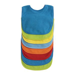 Bright Terry Cloth Bibs Set of 8
