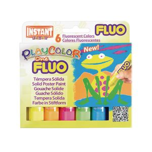 PlayColor® Fluorescent Tempera Sticks - Set of 6