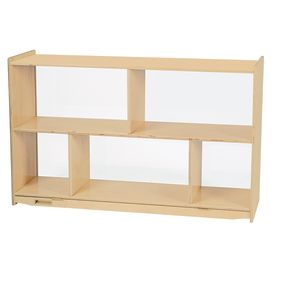 MyPerfectClassroom® Divided Shelf Mobile Storage with Clear Back