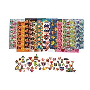 Holiday Celebration Sparkle Sticker Variety Pack - 21 Sheets