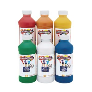 Colorations® Simply Washable Tempera 8 oz. - Set of 6