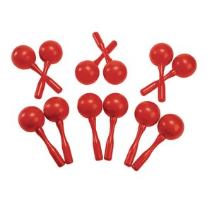 Plastic Maracas - Set of 6