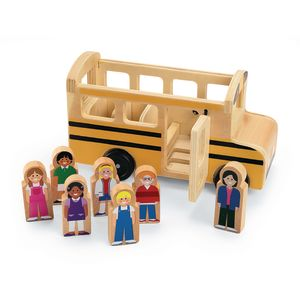 Wooden School Bus Playset