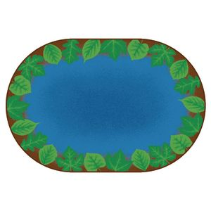 Medium Harmony Leaf Places Carpet - 6' x 9' Oval