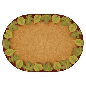 Medium Earthtones Leaf Places 6' X 9' Oval