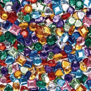 Colorations® Sparkly Self-Stick Gem Jar - 900 Pieces