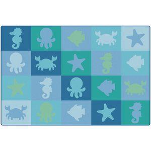 Environments® Sea Life Woven Carpet - 6' x 9'