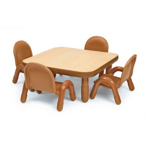 "Angeles® BaseLine® 30"" x 30"" Square Toddler Table & Chair Set - Natural"