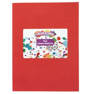 Red Foam Sheets - 10 Pieces