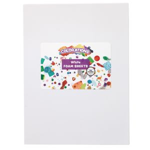 White Single Color Foam Sheets - 10 Pieces