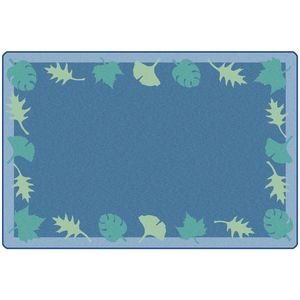 Blue Leaf Carpet - 6' x 9'