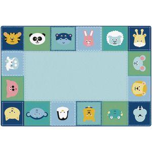 Baby Animals Border Carpet - 8' x 12'