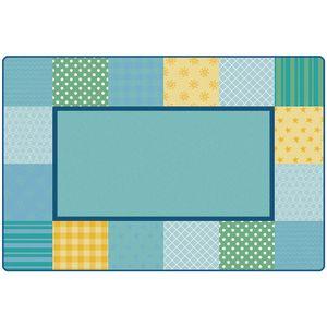 Pattern Blocks 4' x 6' Rectangle KIDSoft Premium Carpet