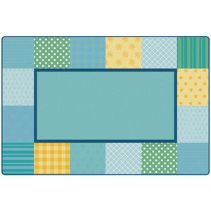 Soft Pattern Blocks Carpet - 8' x 12'