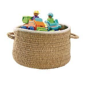 Chenille Handle Basket - Tan