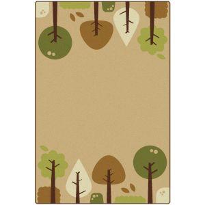 Tranquil Trees Tan 4' x 6' Rectangle KIDSoft Premium Carpet