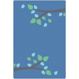 Branching Out Blue 4' x 6' Rectangle KIDSoft Premium Carpet