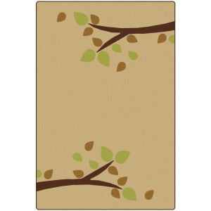 Branching Out Tan 4' x 6' Rectangle KIDSoft Premium Carpet