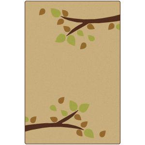 Branching Out Tan 6' x 9' Rectangle KIDSoft Premium Carpet