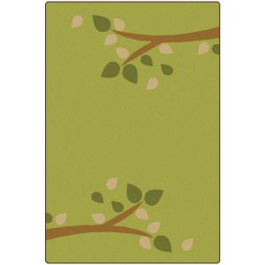 Branching Out Green 4' x 6' Rectangle KIDSoft Premium Carpet