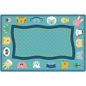 Quiet Time Animals 6' x 9' Rectangle KIDSoft Premium Carpet