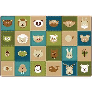 Nature Animals Patchwork Carpet - 6' x 9'