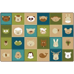 Nature Animals Patchwork Carpet - 8' x 12'