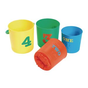 Nesting Number Pails 4 Pieces