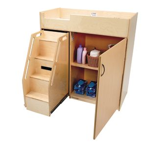 Environments® Toddler Changing Table with Stairs - Assembled