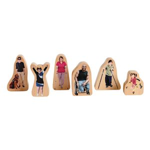 Excellerations® Differently-Abled Block Play People Set of 6