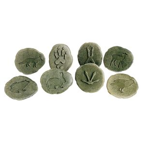 Woodland Animal Footprint Stones