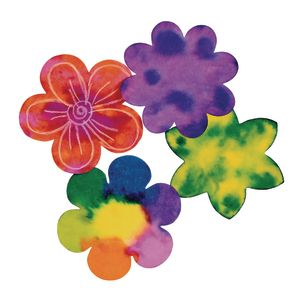 Liquid Watercolor™ Diffusing Paper Flower Shapes