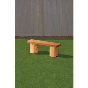 Wood Bench with Log Legs