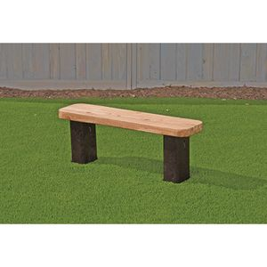 Outdoor Wooden Bench w/Plastic Legs