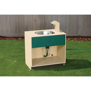 Outdoor Faucet Sink with Hose Attachment