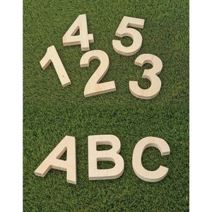 Solid Wooden Letters and Numbers
