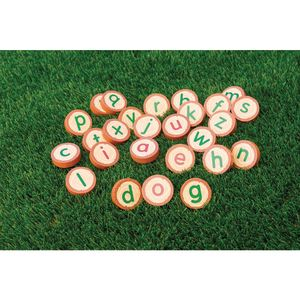 Excellerations® Wooden Lowercase Alphabet Rounds 26
