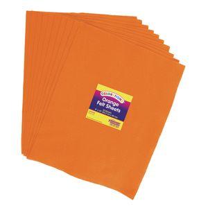 Orange Colorations® Single Color Felt Sheets 10 Pieces