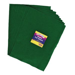 Green Colorations® Single Color Felt Sheets 10 Pieces