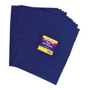Blue Colorations® Single Color Felt Sheets 10 Pieces
