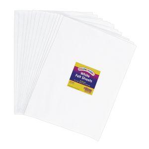 White Colorations® Single Color Felt Sheets 10 Pieces