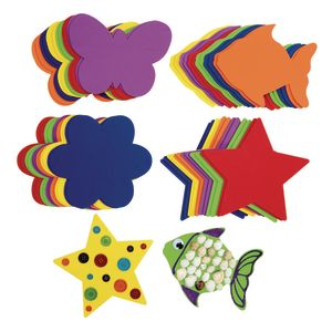 Jumbo Foam Collage Shapes 48 pieces