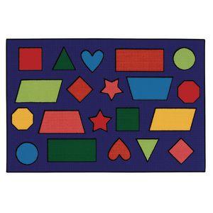 Color Shapes 4' x 6' Rectangle Kids Value Carpet
