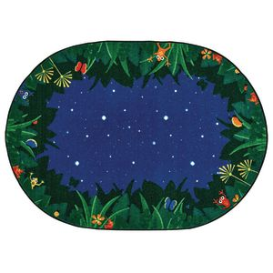 Peaceful Tropical Night 6' x 9' Oval Premium Carpet