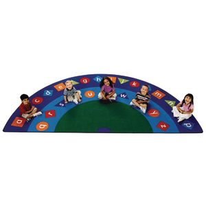 Alpha Shapes Seating Rug - 6'8 x 13'4 Semicircle