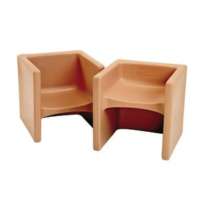 Cube Chair 2 Pack - Almond