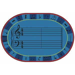 A-Sharp Music 8' x 12' Oval Kids Value PLUS Carpet